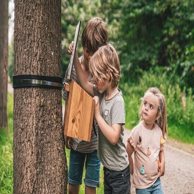 met kinderen op stap in de natuur